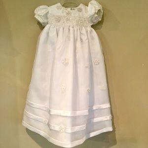 J.J. Anjorden 3-6 MOs Christening Dress & Bonnet
